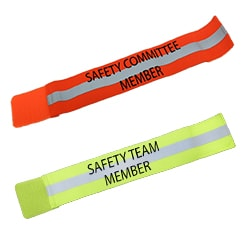 RUSEEN Reflective Apparel - Workwear - Reflective Leg Band & Reflective Arm Bands - Safety Committee - Safety Team