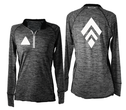 RUSEEN Reflective Apparel - Reflective Shirt - Long Sleeve Quarter Zip