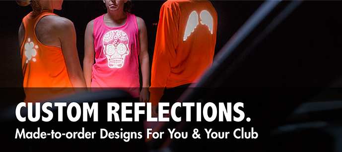 Custom Reflective clothing and gear for exercising