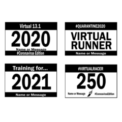 Custom virtual race bibs to have printed on a shirt