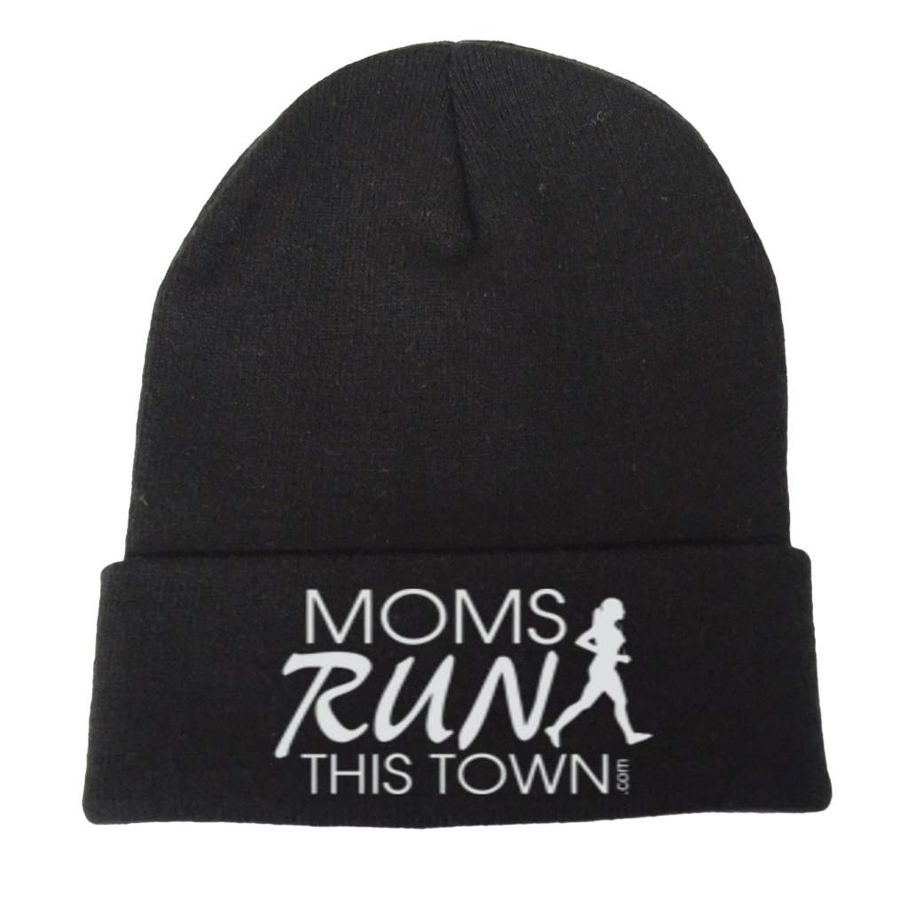 Reflective Knit Beanie - Moms Run This Town