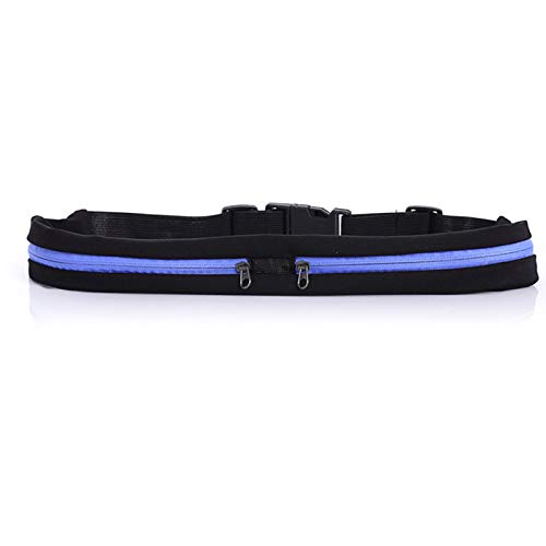 REFLECTIVE RUNNING BELT - 2 ZIPPERS - Purple