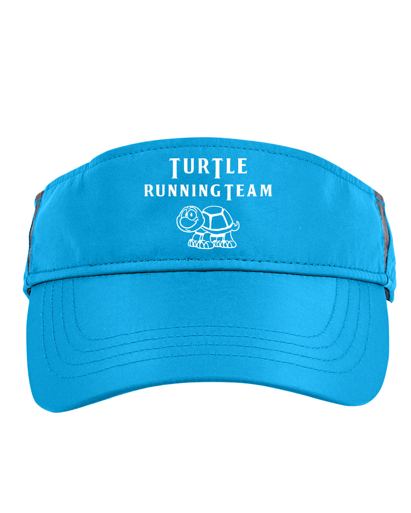 Reflective Visor - Turtle Running Team - Blue front