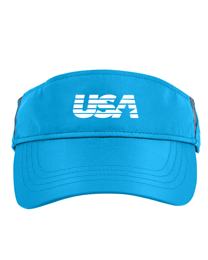 Reflective Visor - USA - Blue front
