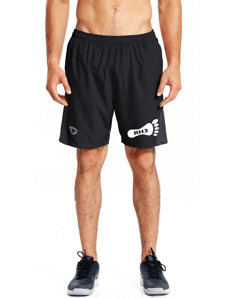 Men's Running Shorts - Reading HHH Pre-Order - Front - Black