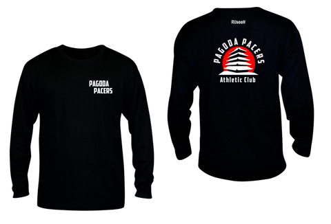 Unisex Reflective Long Sleeve – Reading Pagoda Pacers - Front & Back - Black