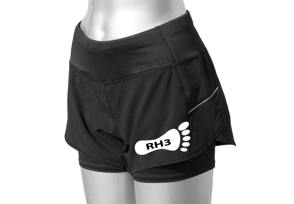 Women's Running Shorts - Reading HHH Pre-Order - Front - Black