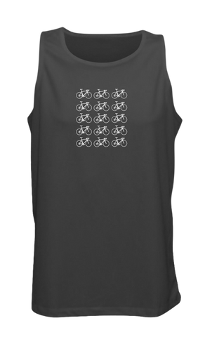Men's Reflective Tank Top - Ride On! - Black front