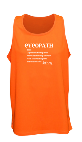 Men's Reflective Tank Top - Cycopath - Orange front