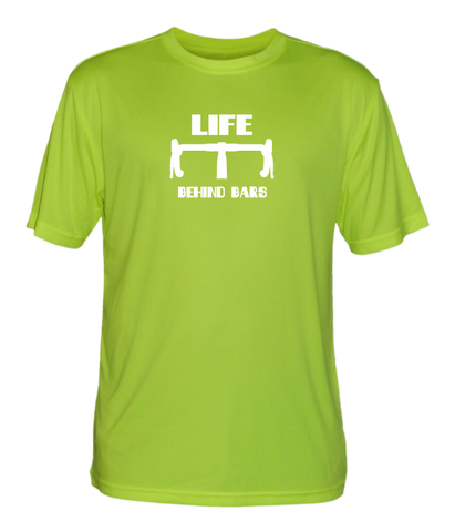 Men's Reflective Short Sleeve Shirt - Life Behind Bars - Lime Yellow front