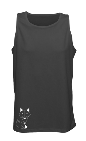 MEN'S REFLECTIVE TANK TOP - FOX - Front - Black