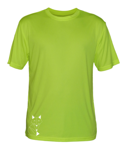 MEN'S REFLECTIVE SHORT SLEEVE SHIRT - FOX - Front - Lime Yellow