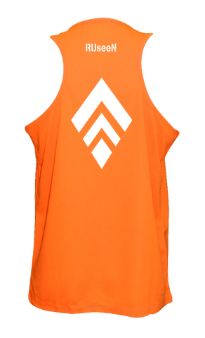 MEN'S REFLECTIVE TANK TOP – BROKEN DIAMOND - Back - Orange