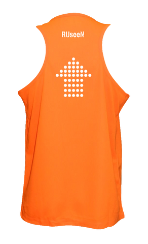 Men's Reflective Tank Top - Dotted Arrows - Orange