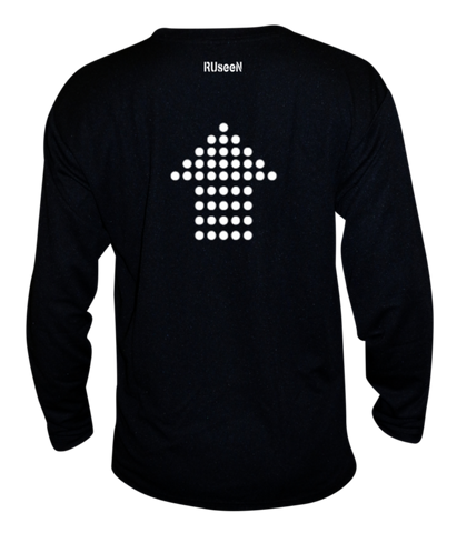 Unisex Reflective Long Sleeve - Dotted Arrows - Black