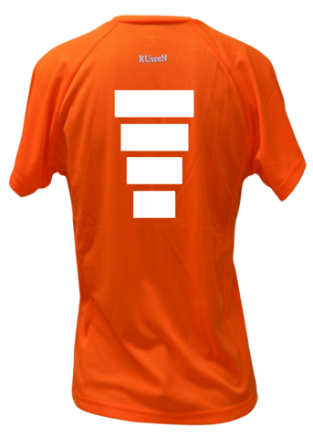 WOMEN'S REFLECTIVE SHORT SLEEVE SHIRT –  BLOCK - Back – Orange
