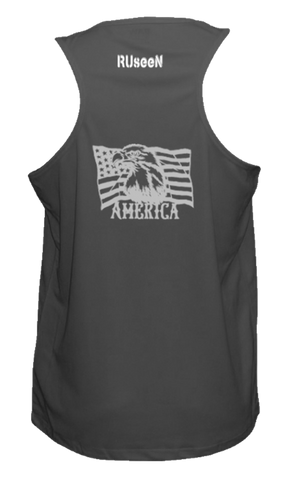Men's Reflective Tank Top - America - Black back
