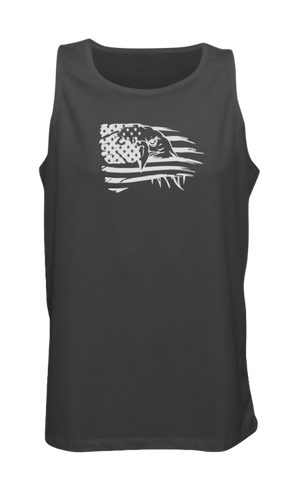 Men's Reflective Tank Top - Eagle Flag - Black front