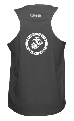 Men's Reflective Tank Top - USMC - Black back