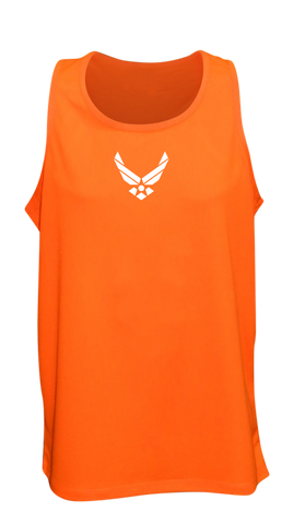 Men's Reflective Tank Top - USAF - Orange front