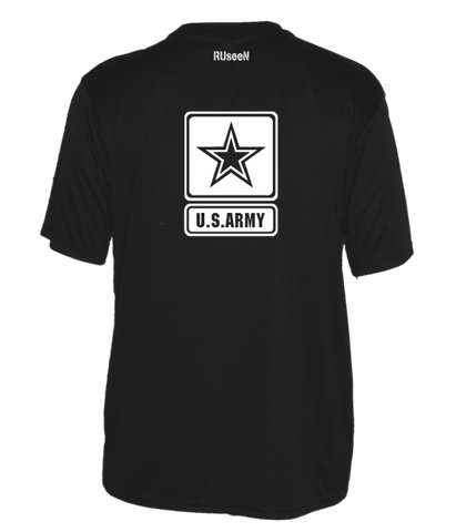 Men's Reflective Short Sleeve Shirt - US Army - Black back