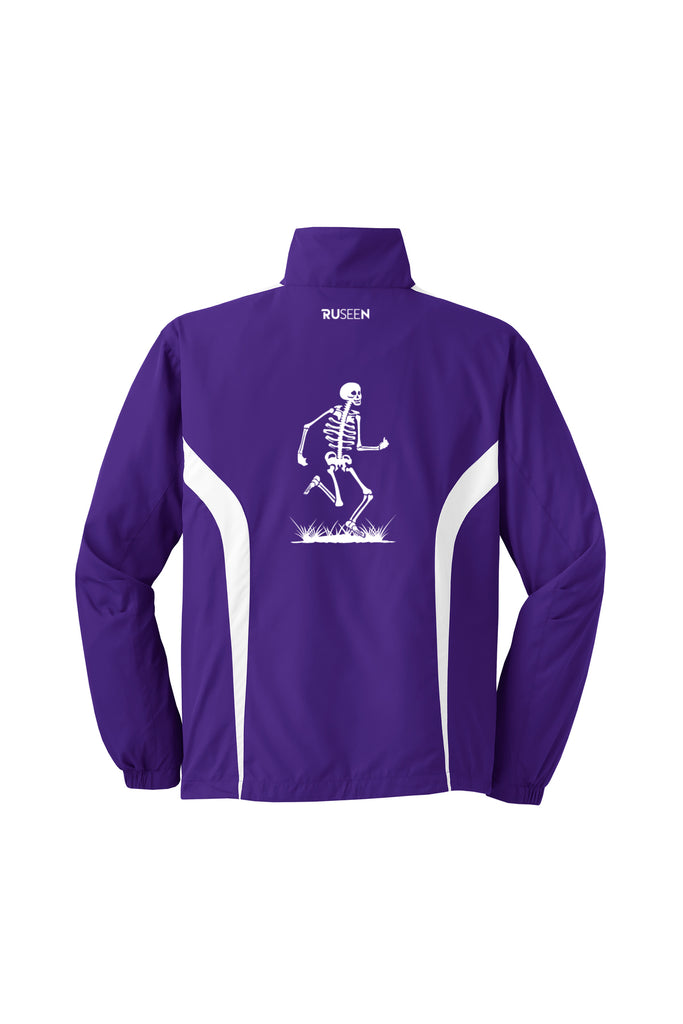 Men's Reflective Windbreaker - Skeleton - Purple - Back