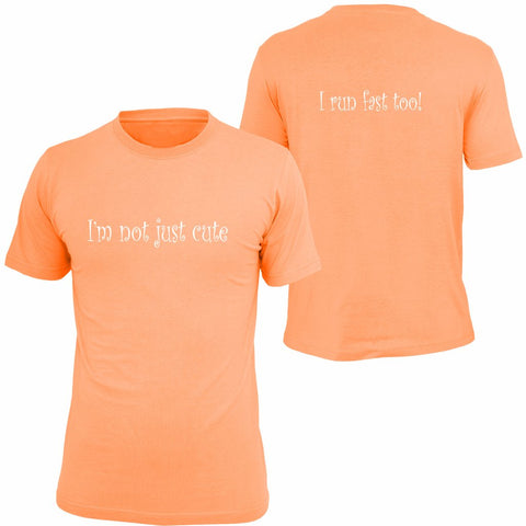 KIDS REFLECTIVE SHORT SLEEVE SHIRT –  I'M NOT JUST CUTE - Front & Back – Orange