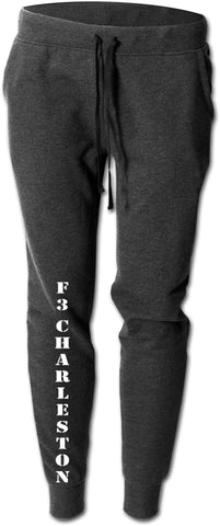 Men's Reflective Sweatpants - F3 Charleston - Black - Front