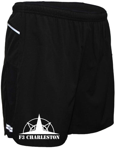 "Men's Reflective Running Shorts 5 & 7"" Charleston F3 - Front"