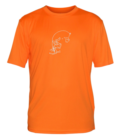 MEN'S REFLECTIVE SHORT SLEEVE SHIRT –  H3 DRINKER - Front –  Orange