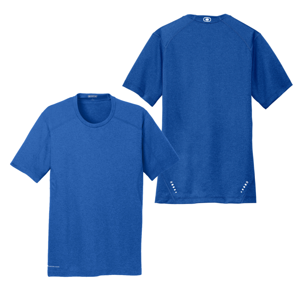 Men's Short Sleeve Shirt - Electric Blue - Blank front & back