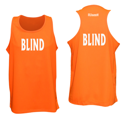 MEN'S REFLECTIVE TANK TOP - BLIND - Front & Back - Orange
