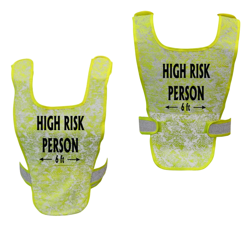 Reflective Running Vest - High Risk Person 6 ft - Lime Yellow
