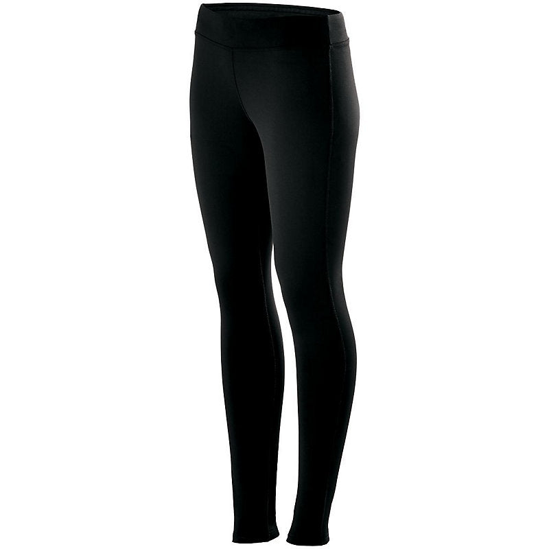 LADIES TRAINING TIGHTS - Front – Black