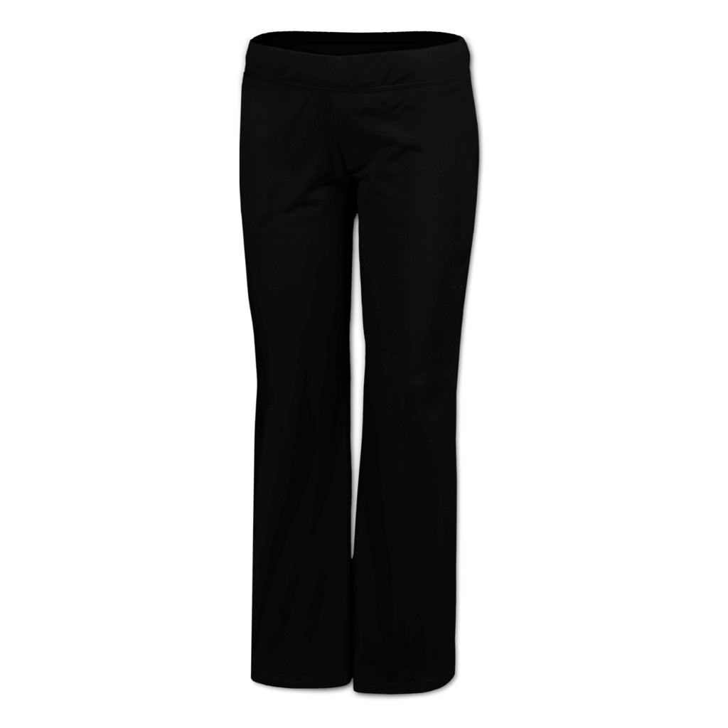 WOMENS TRICOT TRACK PANTS -  Front – Black