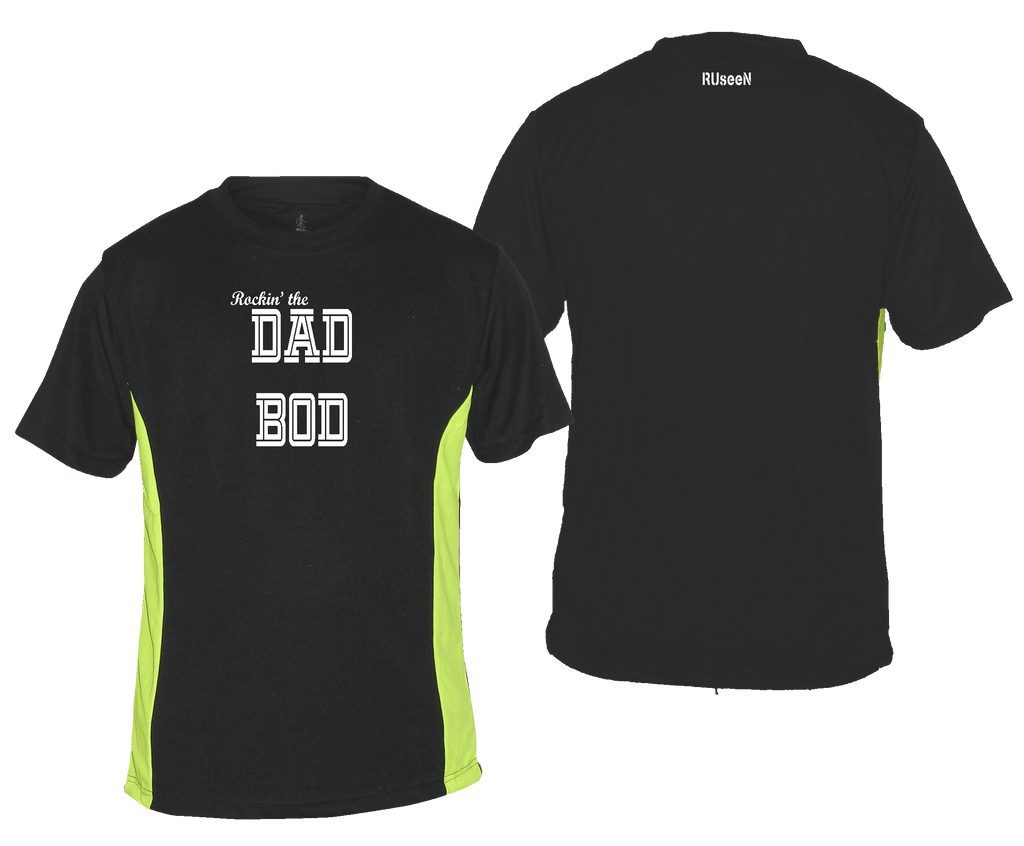 Men's Reflective Short Sleeve Shirt - Rockin' The Dad Bod