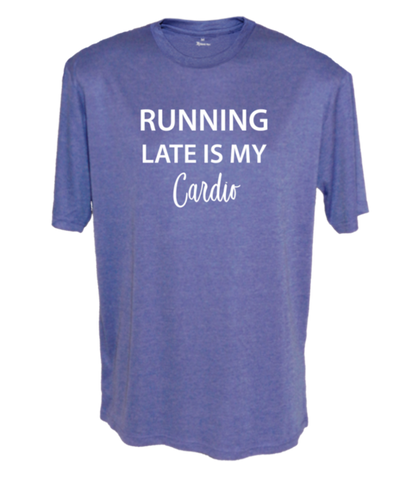 Men's Reflective Short Sleeve Shirt - Running Late is My Cardio