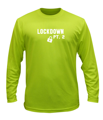 Unisex Reflective Long Sleeve Shirt - Lockdown Pt 2 - Lime Yellow