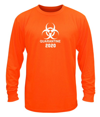 Unisex Long Sleeve Shirt - Quarantine 2020 - Orange front