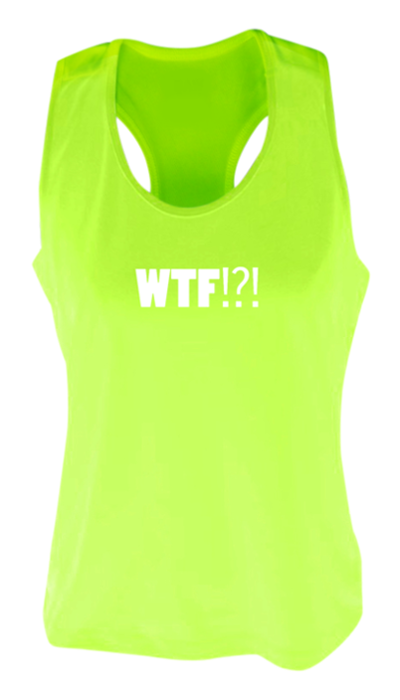 56698e2f WOMEN'S REFLECTIVE TANK TOP SHIRT – WHERE'S THE FINISH? - Front & Back –  Neon. Show Gallery