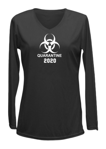 Women's Reflective Long Sleeve - Quarantine 2020 - Black front