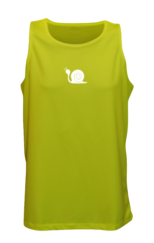 Men's Reflective Tank Top - Didn't Train - Front - Lime Yellow