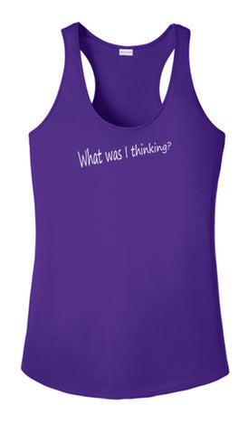 WOMEN'S REFLECTIVE TANK TOP SHIRT –  GOOD IDEA - Front - Dark Purple