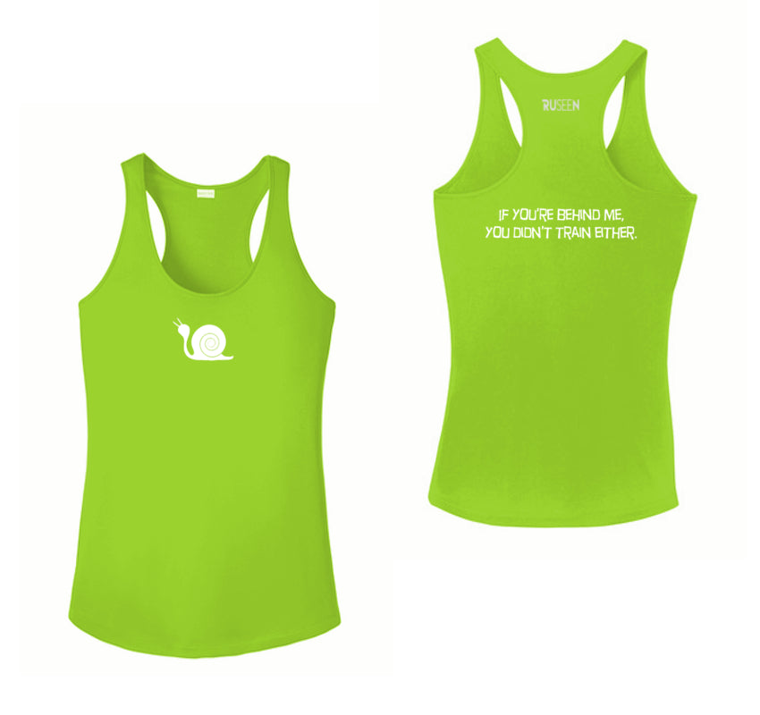 Women's Reflective Tank Top - Didn't Train - Lime Green