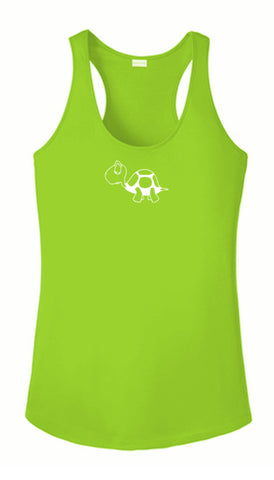 Women's Reflective Tank Top - I'm Not Last - Lime Green Front