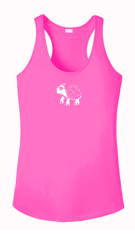 Women's Reflective Tank Top - Looks Like Walking - Neon Pink front