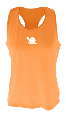 Women's Reflective Tank Top - Didn't Train - Orange Front