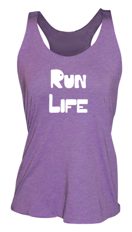 WOMEN'S REFLECTIVE TANK TOP – RUN LIFE - Front - Purple