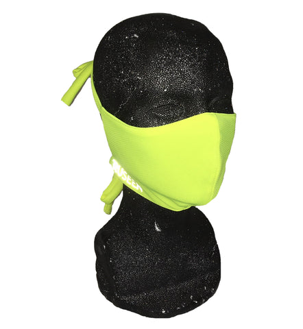 Hi Visibility Reflective Face Mask - Lime Yellow