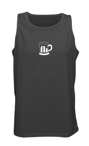 Men's Reflective Tank - Run for Beer - Front - Black